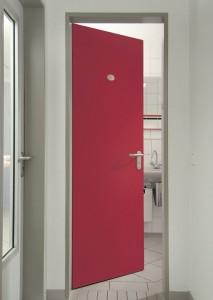 Innenraumtür rot